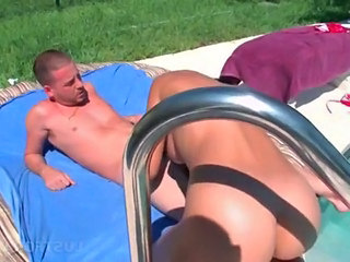 Blowjob Outdoor Pool Outdoor