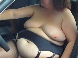 Car  Wife Bbw Tits Bbw Wife Car Tits