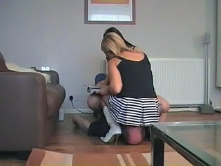 Clothed Facesitting Femdom Slave