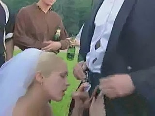 Blowjob Bride Outdoor Outdoor