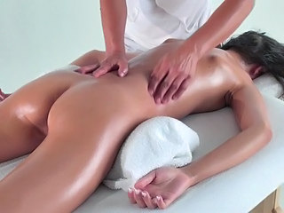Ass Brunette Massage Oiled Young Massage Oiled Oiled Ass