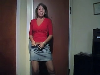 Brunette  Skirt Stripper Wife Wife Milf