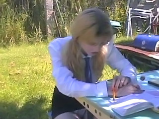 Amateur Blonde Outdoor Pigtail Skinny Student Young Outdoor Outdoor Amateur Amateur