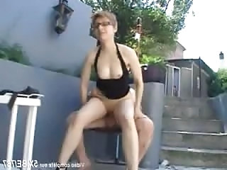 Blonde Family French Glasses  Outdoor Riding Small Tits Riding Tits Outdoor French Milf Family Milf Ass French