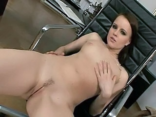 Amazing Brunette Office Pornstar Pussy Shaved Small Tits Tits Office Office Pussy