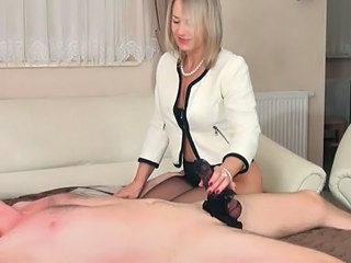 Amazing Blonde Fetish Handjob Lingerie Mature Blonde Mature Footjob Foot Handjob Mature Lingerie Nylon