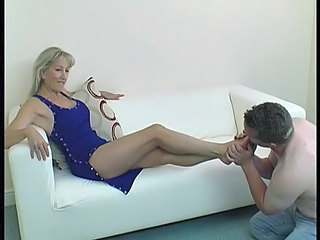 Blonde Feet Fetish Mature Blonde Mature