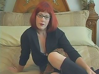 Glasses  Pornstar Redhead Jerk Milf Ass