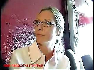 Amateur Blonde Glasses  Milf Ass Teacher Student Amateur