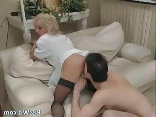 Blonde Fisting Licking  Stockings Stockings Crazy Milf Stockings