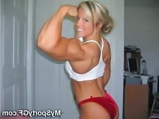 Amateur Blonde  Muscled Amateur
