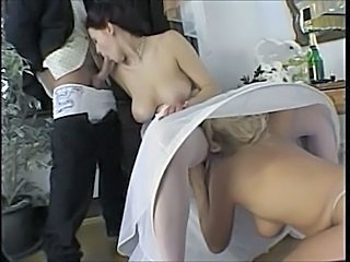 Blowjob Bride  Natural Stockings Threesome Blowjob Milf Wedding Stockings Milf Blowjob Milf Stockings Milf Threesome Threesome Milf