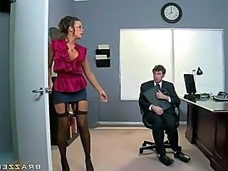 Brunette Glasses  Office Pornstar Milf Ass Milf Office Office Milf