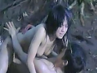 Asian Hardcore Outdoor Riding Outdoor