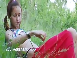 Cute Outdoor Pigtail Russian Outdoor