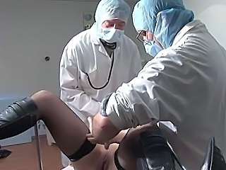 Doctor Pussy Shaved Stockings Threesome Uniform Stockings
