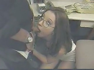 Blowjob Cute Glasses Office Secretary Cute Ass Cute Blowjob