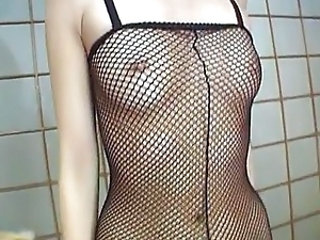Asian Fishnet Small Tits Asian Babe Fishnet