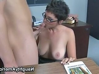 Blowjob Fantasy Glasses  Natural  School Teacher Blowjob Milf Tits Job Milf Ass Milf Blowjob School Teacher Short Hair