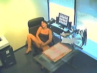 HiddenCam Masturbating Office Secretary Voyeur
