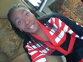 Cute Ebony  Pornstar Cheerleader