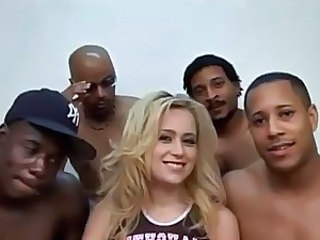 Blonde Gangbang Interracial  Pornstar Blonde Interracial Gangbang Blonde Interracial Blonde