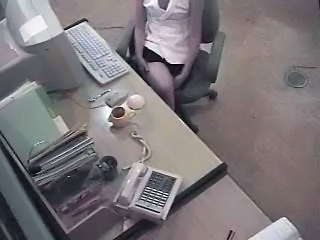 HiddenCam Masturbating  Office Secretary Voyeur Spy Masturbating Milf Office Office Milf Spy Caught