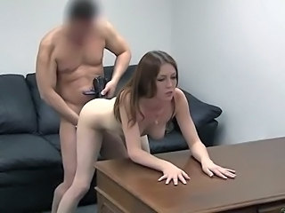 Cute Doggystyle Hardcore Redhead Small Tits Tits Doggy Son