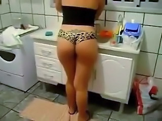 Ass Brazilian Kitchen  Panty Voyeur Brazilian Ass Milf Ass