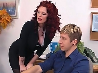 Amazing Cute  Office Pornstar Redhead Milf Office Office Milf