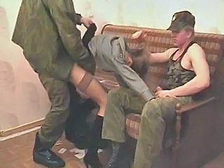Army Clothed Forced Hardcore Threesome Uniform Threesome Hardcore Forced