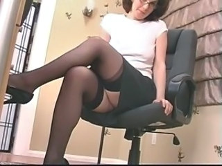 Dildo Glasses Legs  Secretary Skirt Stockings Dildo Milf Stockings Milf Ass Milf Stockings Toy Ass
