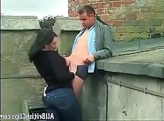 British Clothed European Handjob Jeans Outdoor Outdoor Handjob Cumshot European British
