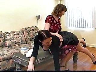 Brunette Pain Spanking Older Man