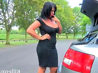 British Car European  Outdoor British Milf Outdoor Milf British European British