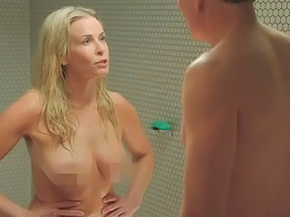 Blonde Celebrity Showers Celebrity