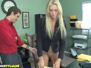 Babe Blonde Office Secretary Office Babe