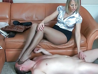 Femdom Feet Fetish Legs Older Pantyhose Slave Pantyhose Stockings