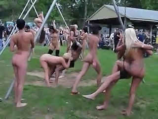 Nudist Party Public Crazy Public