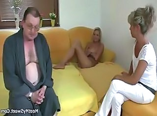 Blonde Old and Young Threesome Old And Young Threesome Blonde