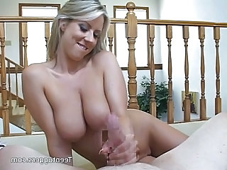 Blonde Car Handjob  Pov Jerk