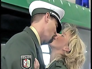 Blonde Kissing  Uniform Police
