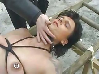 Fetish German Nipples Piercing Slave Kinky German