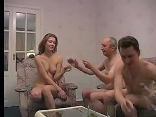 Drunk Homemade Old and Young Threesome Old And Young