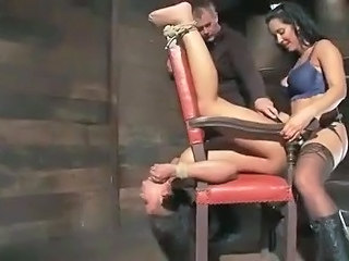 Bondage Strapon Threesome Tied Strapon Anal Threesome Anal