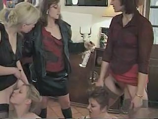Clothed Groupsex Lesbian Licking  Blonde Lesbian