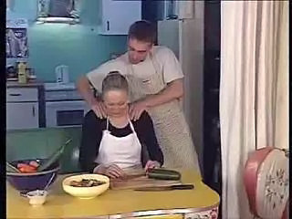 Kitchen Mature Mom Old and Young Kitchen Mature Maid + Mature