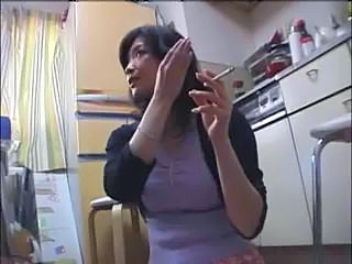 Asian Kitchen  Smoking Wife Kitchen Sex Milf Asian Wife Milf