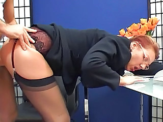 Clothed Glasses Mature Office Secretary Stockings Mature Ass Clothed Fuck Stockings Glasses Mature Mature Stockings