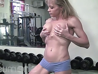 Mature Muscled Sport Gym